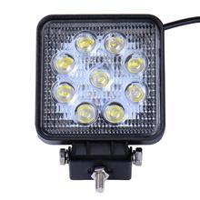 цена на 10pcs Car Light 27W DC 12V-24V Square Light 10-30V IP67 Waterproof Led Work Light Led Car Headlight For Trucks SUVs