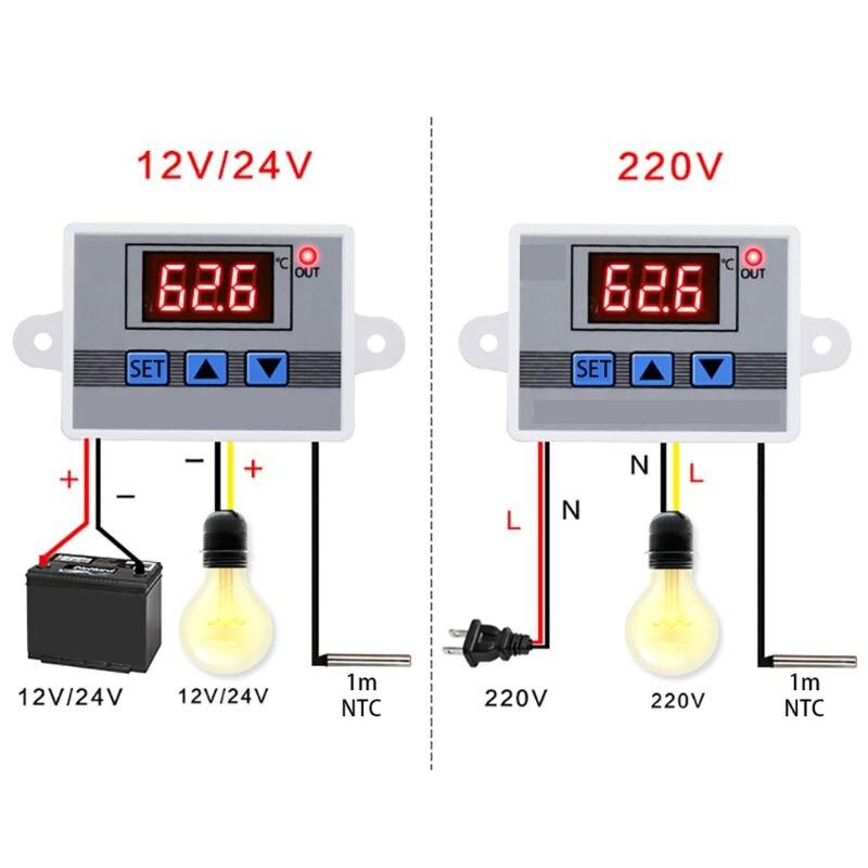 2020 nuevo 12V 24V 220V W3002 controlador de temperatura Digital 10A regulador de termostato LED