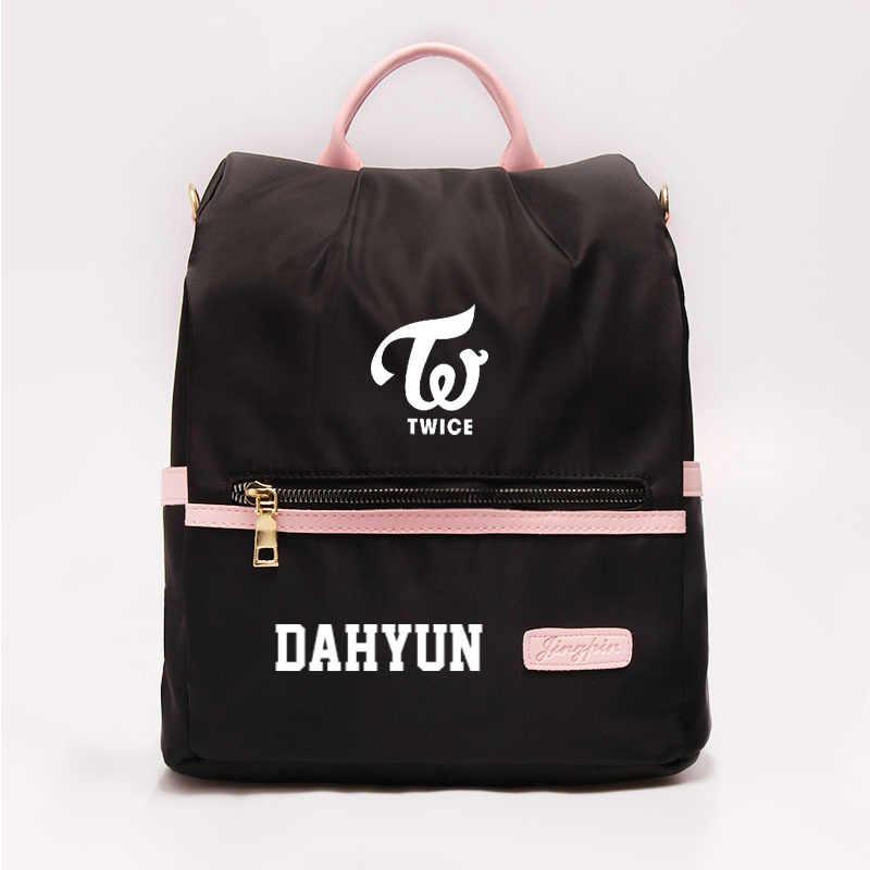 Korean Kpop Zweimal Mode Druck Schul Rucksack Kpop Koreanische Rucksack Schulter Tasche Reise Rucksack für Frauen Männer Mädchen Jungen