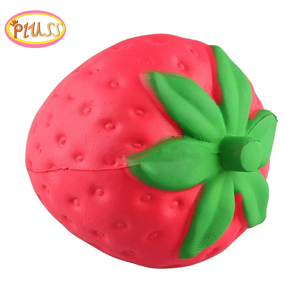 Cute Fruit Strawberry Squishy Slow Rising Cream Scented Squeeze Toy  Stress Relief Exquisite For Kids Xmas Gifts