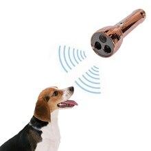 Ручной ультразвуковой репеллент от собак тренер коры фиксаторы уход за кожей лица маска с светодиодный фонарик безопасный Отпугиватель собак для выгула собак тренер Баркин