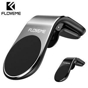 FLOVEME Car Phone Holder For Phone In Car Mobile Support Magnetic Phone Mount Stand For Tablets And Smartphones Suporte Telefone(China)
