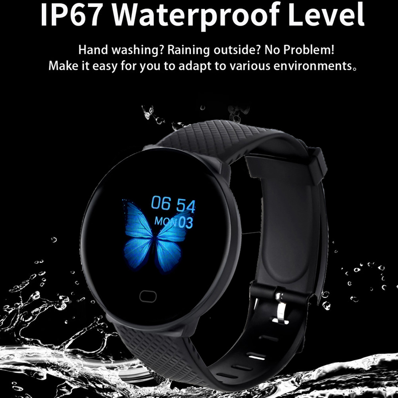 Smart Watch Men 1.3'' Screen Fitness Tracker Ip67 Waterproof Blood Pressure Heart Rate Monitor Smartwatch Woman For Android IOS 3