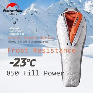Image 2 - Naturehike 2019 20D Arktischen Alpine Gans Unten Mummy Schlafsack Super Warm Halten 850 FP Komfort Einschränkung Temperatur 23℃  43℃