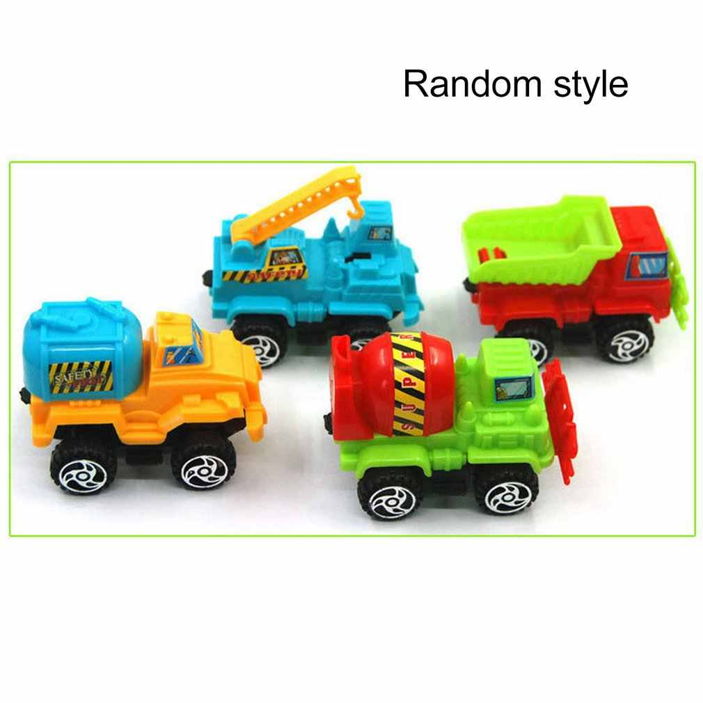 Children's Simulation Inertia Truck  Construction Vehicle Excavator Toy Wholesale Excavator Model Pull Back Car Mini Car