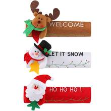 16*24cm Christmas Refrigerator Door Handle Cover Kitchen Appliance Decor Handles Antiskid Protector Gloves for Fridge Oven(China)
