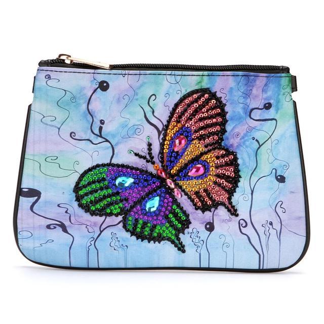99885D DIY Art Special Shaped Diamond Painting Wristlet Wallet Women Clutch Mosa