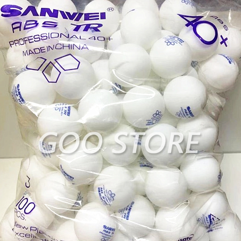 100 balls SANWEI New 3-STAR TR ABS Material Plastic 40+ training SANWEI Table Tennis Ball Poly Ping Pong Ball