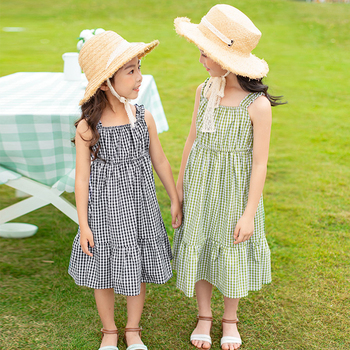 big girls plaid princess dress summer 2020 kids dresses for girl cotton dress children clothes size 3 4 5 6 7 8 9 10 12 13 years