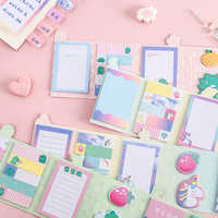 4pcs/lot Stationery small fresh robot unicorn attack series notes paper diy gift planner memo pad