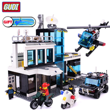 цена на City SWAT Command Center Aircraft Car Motorcycle Bricks Assemble Compatible Legoingly  Building Blocks Toys For Children Gifts