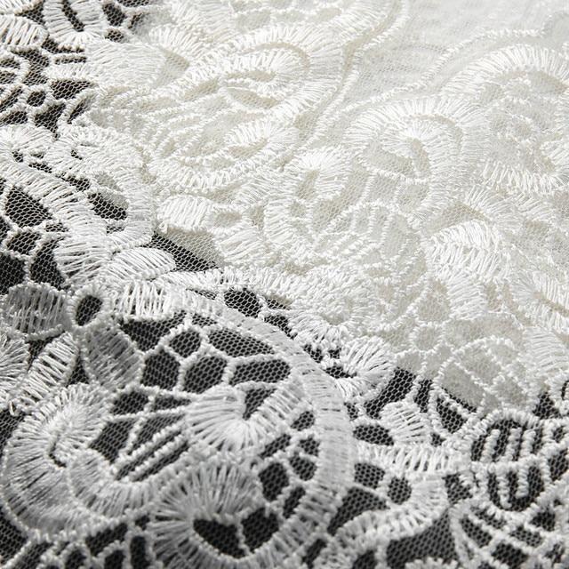 Beautiful Lace top full-length open shoulder dress 4