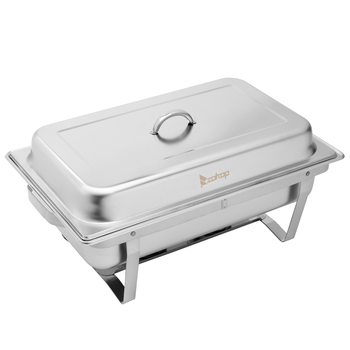 1set/2sets 9L Food Grade Stainless Steel Flip Round Buffet Chafing Dish Restaurant buffet Insulated Round Buffet Stove