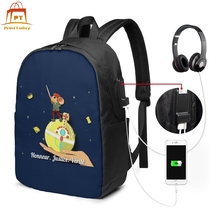 Le Petit Prince Backpack Le Petit Prince Backpacks High quality University Bag Multi Function Student Bags le petit chaperon rouge