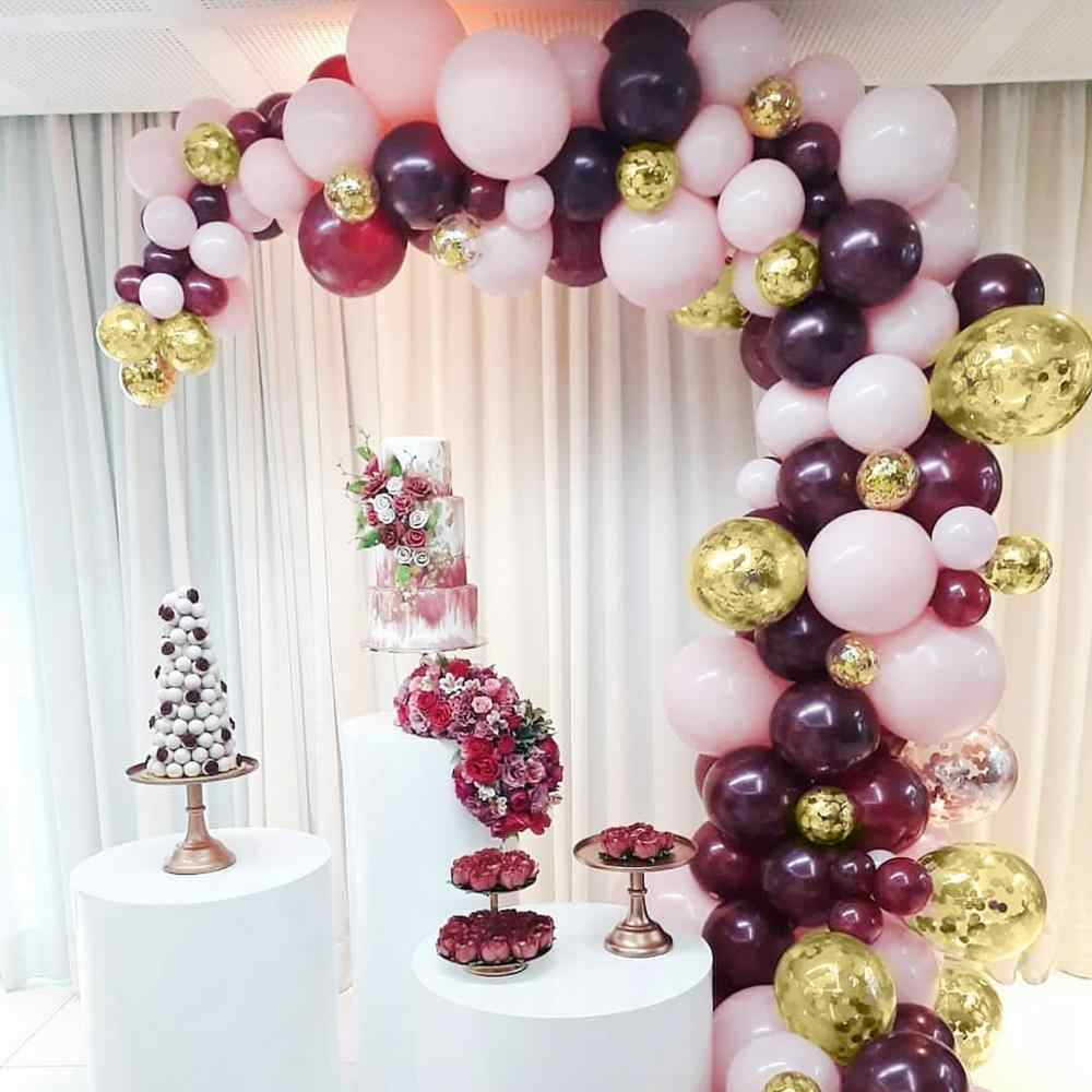 QIFU Macaron บอลลูนโลหะโซ่ชุด Happy Birthday บอลลูน Arch 1st Birthday PARTY Decor เด็ก Oh Baby Shower บอลลูน
