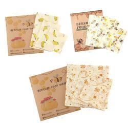 3pcs Bijenwas Voedsel Wraps Voedsel Covers Herbruikbare Milieuvriendelijke Wassen Wrap Stretch Avocado Savers DIY Voedsel Wraps Voedsel Vers Houden