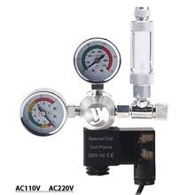 Zrdr Aquarium Magneetventiel Kit Manometer, CO2 Regulator, Éénrichtingsklep Aquarium Accessoires, CO2 Reduceerventiel