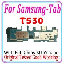 100% מקורי עבור Samsung Galaxy Tab 4 10.1 T530 האם האיחוד האירופי גרסה היגיון לוח עם שבבי MB אמא המעגלים צלחת