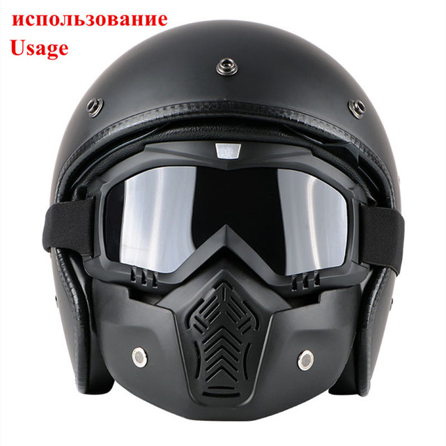 Cycling Motorcycle Helmet Dust Face Mask Shield Respirator Motocross Goggle Glasses Safety Protective Eyewear Bike Bicycle Tools 2