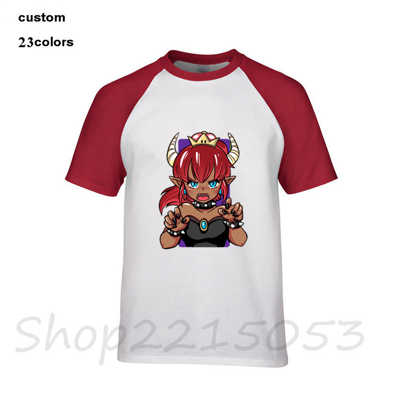 2019 summer top Bowsette red hair bowser princess head meme internet Men funny game tshirts gothic t-shirts male ahegao t shirts image
