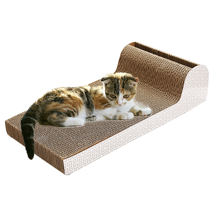P-Type Mobile Bell Cat Scratching Corrugated Cardboard Corrugated Paper Claws Grinding Cat Toy Factory Currently Available Whole
