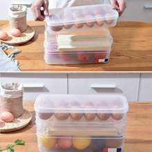 Multi-layer Egg Box Plastic Storage Container Crisper Fridge Food Storage Box with Lid for Kitchen Accessories xuankun zoomer motorcycle electric car accessories before the ab plastic shell with a storage box