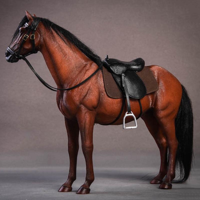 Около 21 см 1:12 моделирование ПВХ теплая кровяная лошадь крепления лошадь животное модель крепление детские игрушки украшение дома сбор пода... - 5