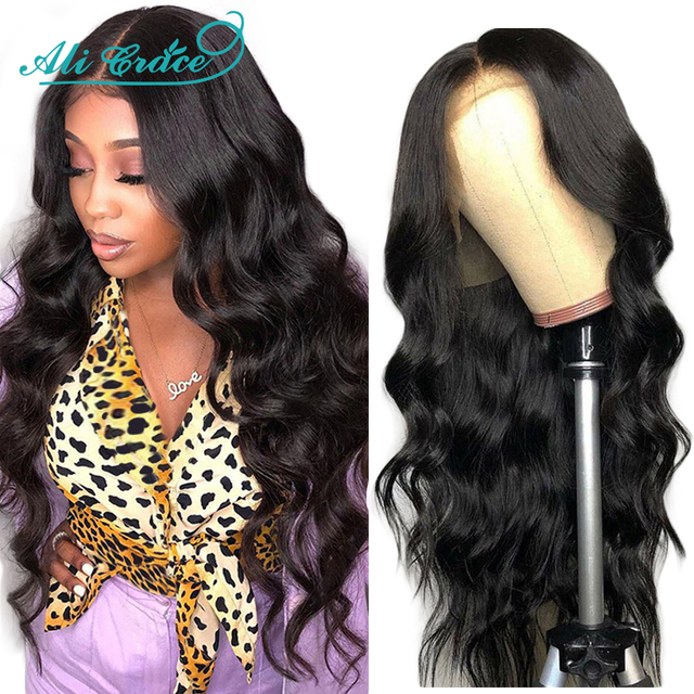 Ali Grace Body Wave Lace Front Wig Natural Hairline Human Hair Wigs Body Wave Brazilian Pre-plucked Lace Front Human Hair Wigs