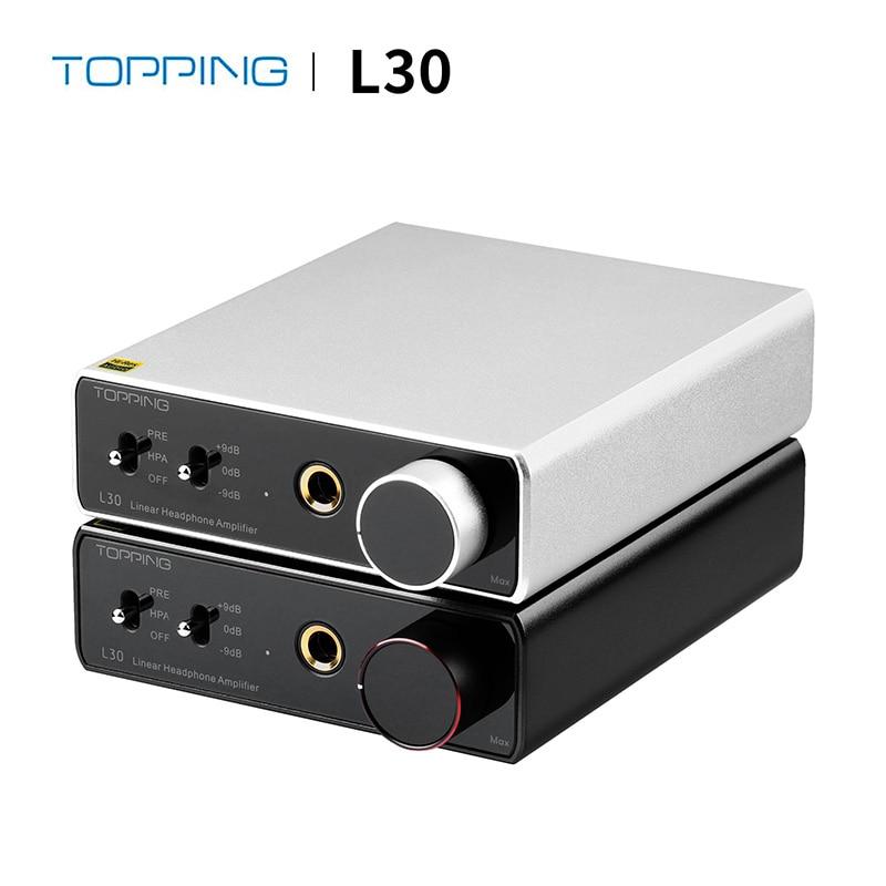 Топпинг L30 усилитель для наушников 6,35 мм NFCA Hi-Fi RCA высокого разрешения пре-усилитель предусилитель для E30 DAC