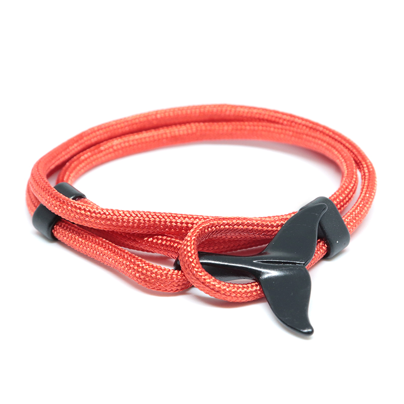 Diffone 2020 Fashion Umbrella Rope Bracelets Man Cretaive Fish Tail Multilayer Wrist Braclet Hand Jewelry Armband Accessories