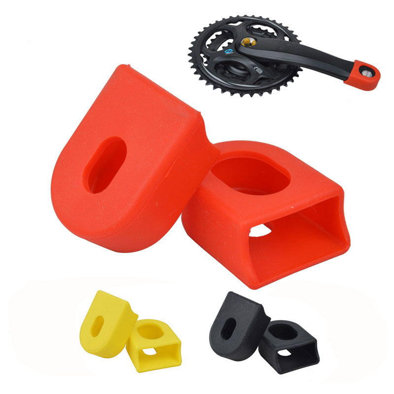 2Pcs Bicycle Crank Cover Mountain Bike Accessories Carbon Fiber Fixed Gear Pedal Crank Case Hot Sale Cycling Protector Cap