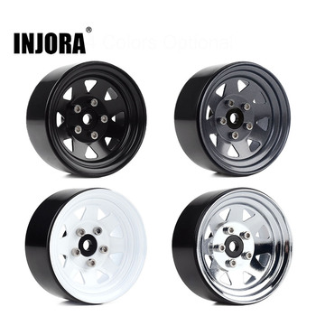 "INJORA Metal 1.9"" Beadlock Wheel Rims 3 Style for 1:10 RC Crawler Car Axial SCX10 90046 Traxxas TRX4 Redcat GEN8 1"