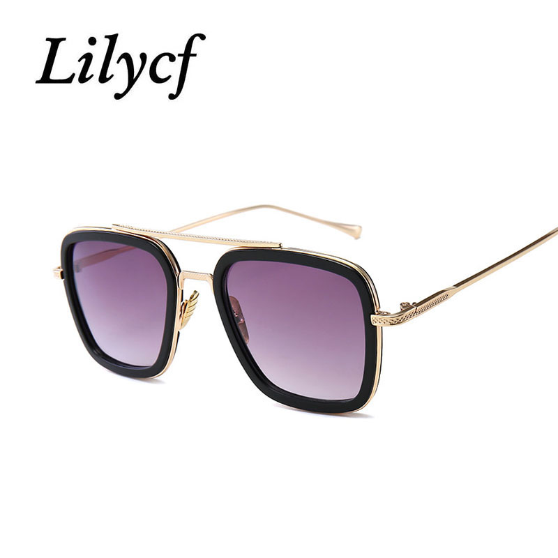 Trend Square Retro Sunglasses Square Frame Transparent Fashion Glasses Unisex Brand Designer Anti-glare Sunglasses UV400 2019