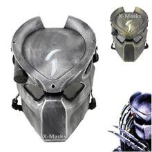 Маска хищника пришельца страйкбол шлем Одинокий Волк Маска с лампой на открытом воздухе Wargame тактическая маска полное лицо CS Пейнтбол Хэллоуин