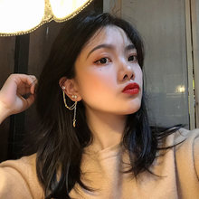 Korean Fashion Zirconia Tassel Clip On Earrings For Women 2020 Gold Cute Statement Piercing Star Clips Ear Cuff Fine Jewelry