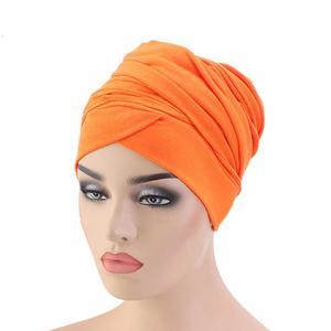 Image 3 - Mới Hồi Giáo Đuôi Dài Khăn Mũ Nữ Băng Đô Cài Tóc Turban Gọng Hóa Trị Bộ Đội Tóc Hồi Giáo Headwrap Đầu Bao Bọc Mũ Lưỡi Trai Mũ Dubai Ả Rập Bonnet