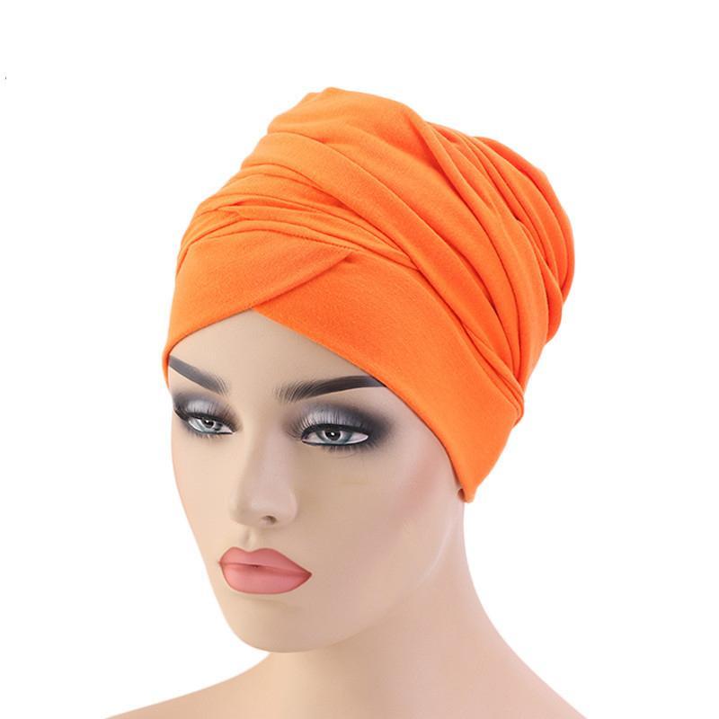 Image 3 - New Muslim Long Tail Scarf Hat Women Turban Chemo Cap Hair Loss  Islamic Headwrap Head Cover Wrap Caps Headwear Dubai Arab BonnetIslamic  Clothing
