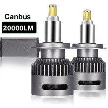 2PCS 20000LM 6000K 360 3D 차량용 전조등 6 양면 하이라이트 LED 헤드 라이트 H1 H7 H8H9H11 9005 9006 9012 H3 자동차 조명