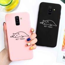 Candy Case For Samsung A50 A30 A10 Case Silicone A40 A60 A70 A6 A8 Plus A9 2018 A20e A2 Core A750 A520 A530 A720 Cute Cat Cover все цены