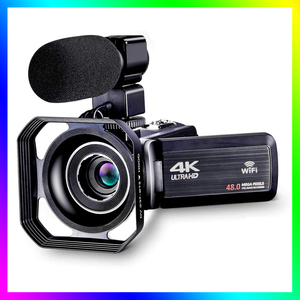 4K Camcorder Vlogging Camera for YouTube WiFi Digital Camera Ultra HD 4K 48MP Video Camera with Microphone Photography