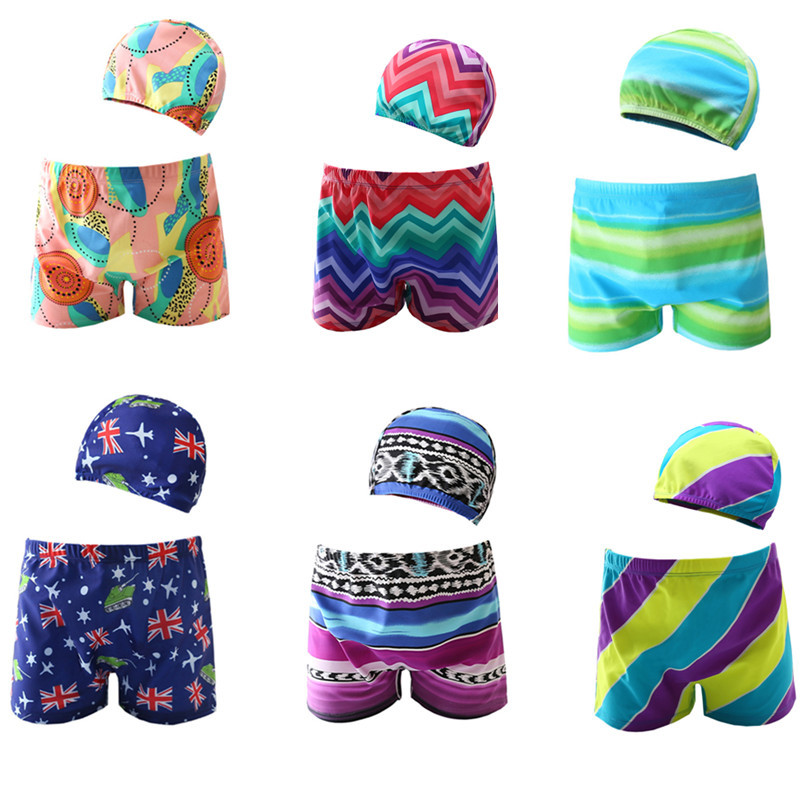 2018 New Style CHILDREN'S Swimming Trunks Baby Baby Swimsuit Big Boy Hot Springs Cute Cartoon Boxer BOY'S Swimming Trunks