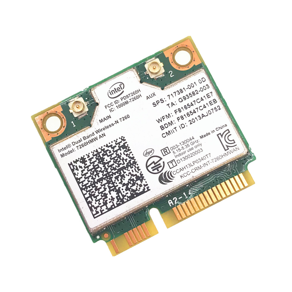 For Dual Band Wireless N 7260HMWAN AN Intel 7260 7260HMW Wifi Bluetooth 4.0 Card For Laptop