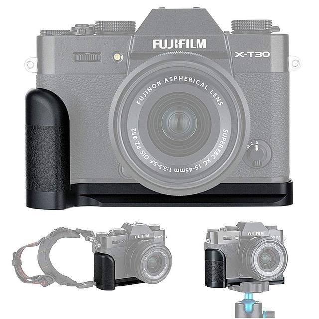 Metal el kavrama tutuşunu plaka L braketi tutucu Fujifilm X T30 X T20 X T10 XT30 XT20 XT10 değiştirir MHG XT10 el kavrama