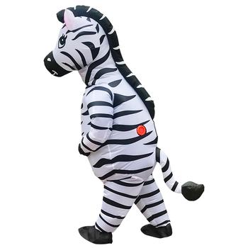 Dorosły Zebra nadmuchiwany kostium na boże narodzenie Halloween zwierząt Cosplay kostiumy fantazyjne karnawał garnitur dla mężczyzny kobiety maskotki ubrania tanie i dobre opinie KOOY CN (pochodzenie) Kombinezony i pajacyki Film i TELEWIZJA Unisex Dla dorosłych Zestawy Poliester Halloween costume for Woman man