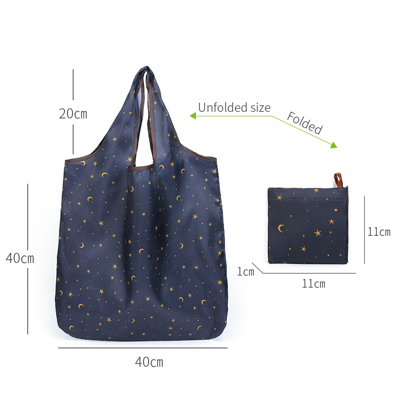 Folding Shopping Bag Eco Friendly Ladies Gift Foldable Reusable Tote Bag Portable Travel Shoulder Bag Small Size Best Selling Product Fashion Accessories Home & Garden