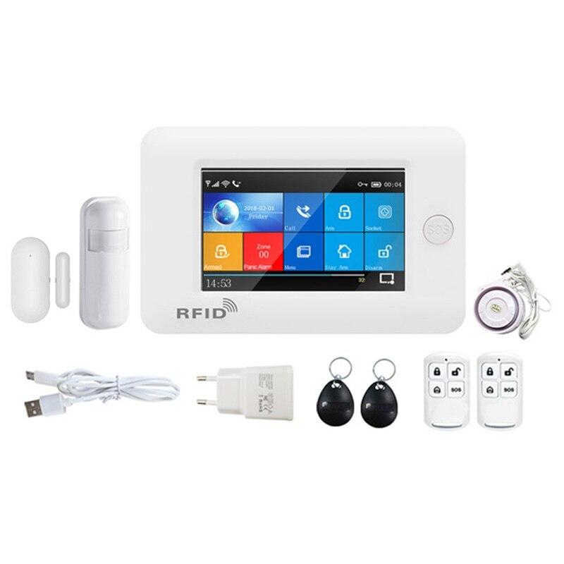 Hot PG106 WIFI+GSM GPRS Wireless Home Security Burglar Alarm System APP Remote Control Alarm for Android and IOS EU Plug