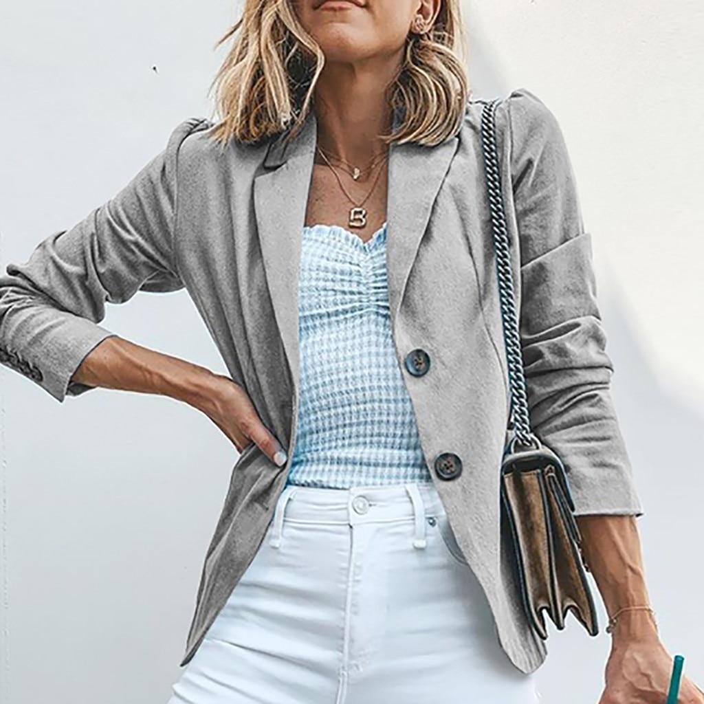 Womens Jackets Solid Long Sleeve Tops Sweatshirt Womens Ladies Solid Turn Down Collar Jacket Long Sleeve Coat Parka Outerwear