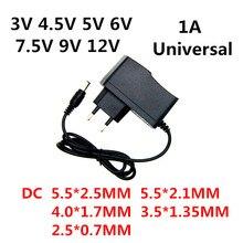AC 110 240V DC 3V 4.5V 5V 6V 7.5V 9V 12V Volt 1A Power Supply Adapter Charger for LED light strip CCTV