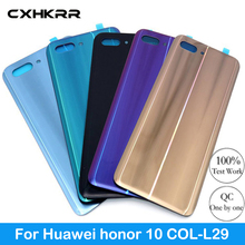 For Huawei honor 10 COL-L29 Back Battery Cover Rear Glass Panel Door Housing Case Repair Replacement Part Original with LOGO free shipping 95%new camera back cover for sony nex 5r nex5r rear cover with door replacement repair part black