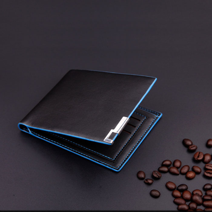 Men Stylish Bifold Business Slim Leather ID/Credit Card Holder Front Pocket Wallet Blocking Business Card Holder Card Holder